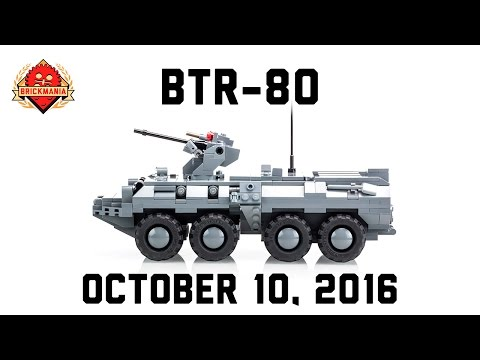 BTR-80 and UAZ 469 - Custom Military Lego