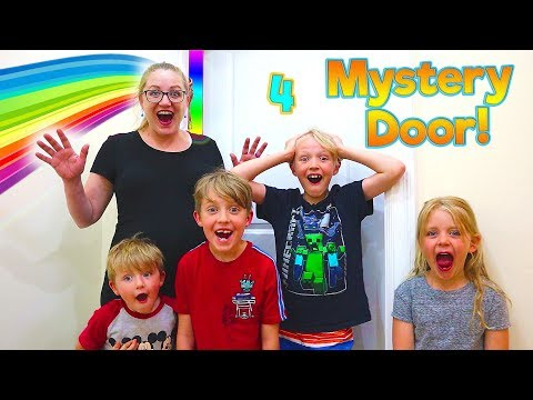 What's Behind Mystery Door #4?! Mr. E Mansion House Tour Continues! / The Beach House