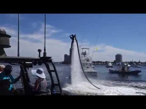 Crazy OBX  Jet Pack Guy Demo, Harborfest Norfolk,VA 06.07.14  LIVE