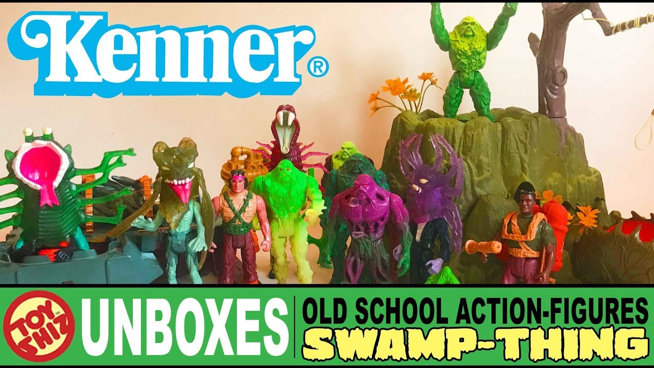 Toy Shiz Un Boxes Old School Action Figures Swamp Thing Youtube