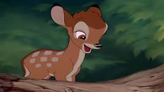 Bambi Thumper teaches Bambi to walk and speak HD