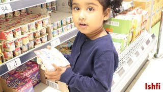 Happy Kids Ishfi's Grocery Shopping visit with Family