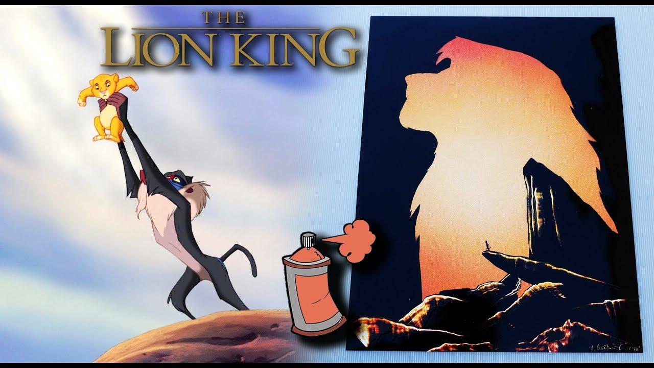 The Lion King Spray Paint Art
