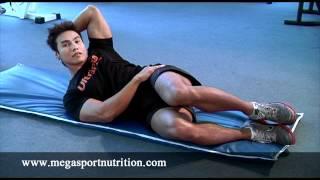 การเล่นกล้ามท้องด้านข้าง Side Crunch