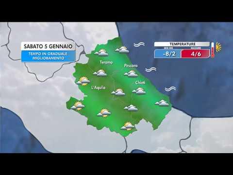 Il Meteo - Abruzzo | Previsioni per sabato 5 gennaio - YouTube