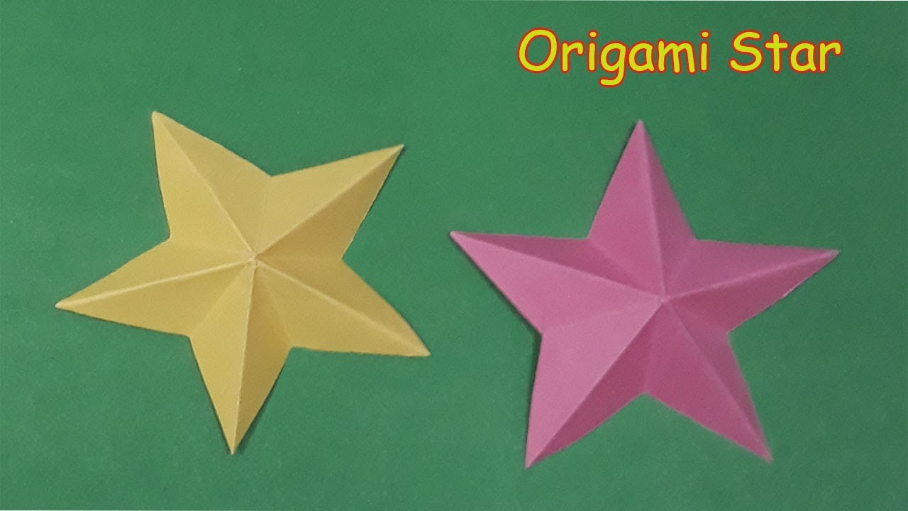 How To Make Easy Simple Star Diy Handcraft Origami Star Flower
