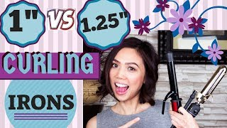 1-Inch vs 1.25-Inch Curling Iron on SHORT HAIR | Hot Tools