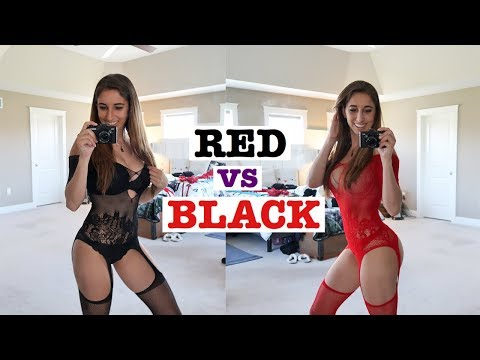 Black Vs Red Lingerie Try On | Affordable & Cute