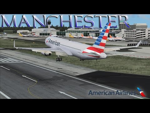FSX [HD] - American Airlines | Boeing 767-300 | Approach to Manchester, UK