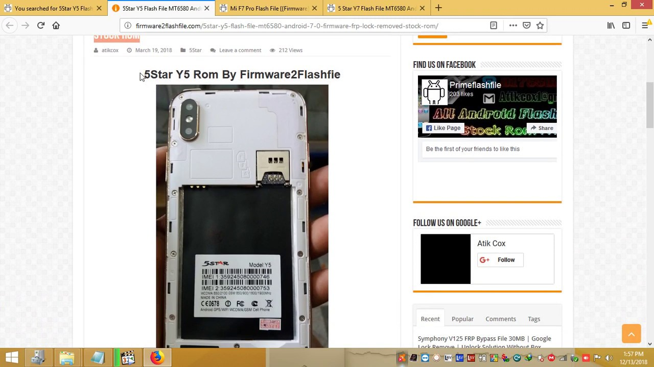 5Star Y5 Flash File MT6580 Android 7 0 Hang Logo Fixed Firmware