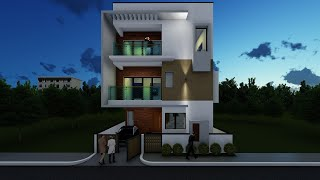 West Facing 3BHK Duplex House I 30x40 I Sketchup Pro