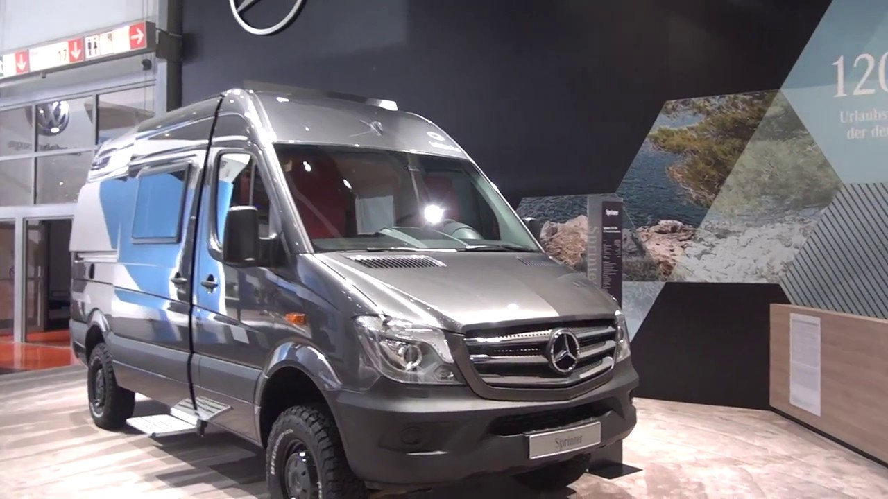 mercedes benz sprinter 4x4 camper van at caravan salon - youtube