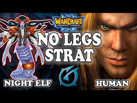 "Grubby | The ""NO LEGS STRAT"" | Warcraft 3 | NE vs HU | Swamped Temple"