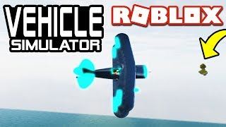 FLYING TO SECRET ISLANDS in Vehicle Simulator! Roblox