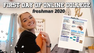 FIRST DAY OF (ONLINE) COLLEGE | freshman 2020