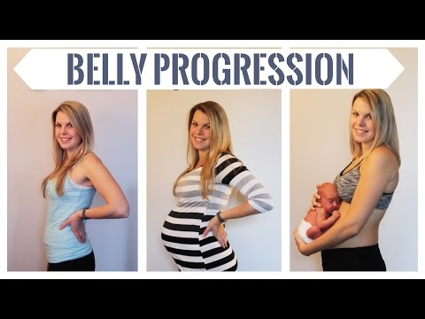 BELLY PROGRESSION! From 5 to 36 weeks pregnant with Baby Nate