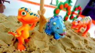 Поїзд динозаврів іграшки відео. Дитячі іграшки.