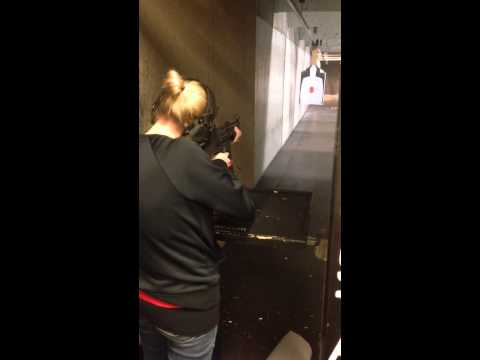 Sad face for wife shooting H&K mp5
