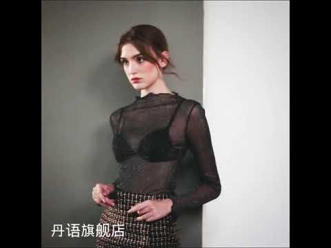 kirahosi 메쉬 셔츠 여성 빅사이즈 셔츠 가을 여자 밝은 실크 섹시한 내부 긴 소매 작은 셔츠 +덧신 증정 BDz5kdvf