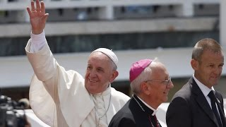 Pope Francis arrives in the United States