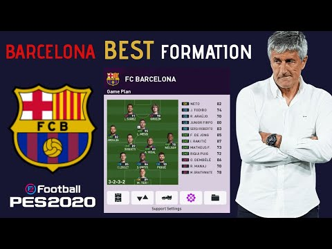 Fc Barcelona Best Formation Tactics Pes 2020 Youtube