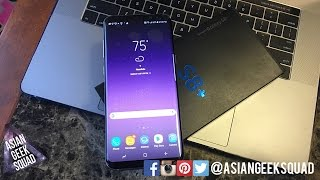 Samsung Galaxy S8+ Orchid Gray Unboxing
