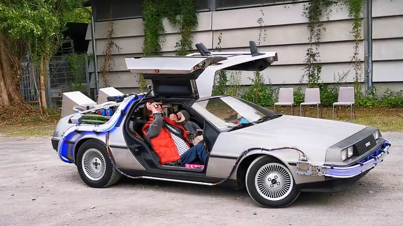 only rc delorean time machine at makerfaire hannover 2019 germany