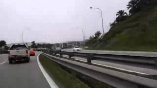 "Crazy Toyota Altis driving against traffic..... Estima lost control 360"" turn"