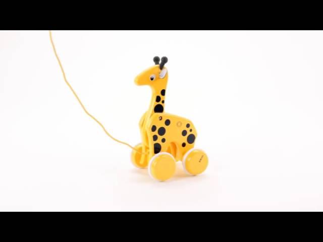 Holzspielzeug # Brio 30200 Nachziehtier Giraffe Ziehtier Holz NEU