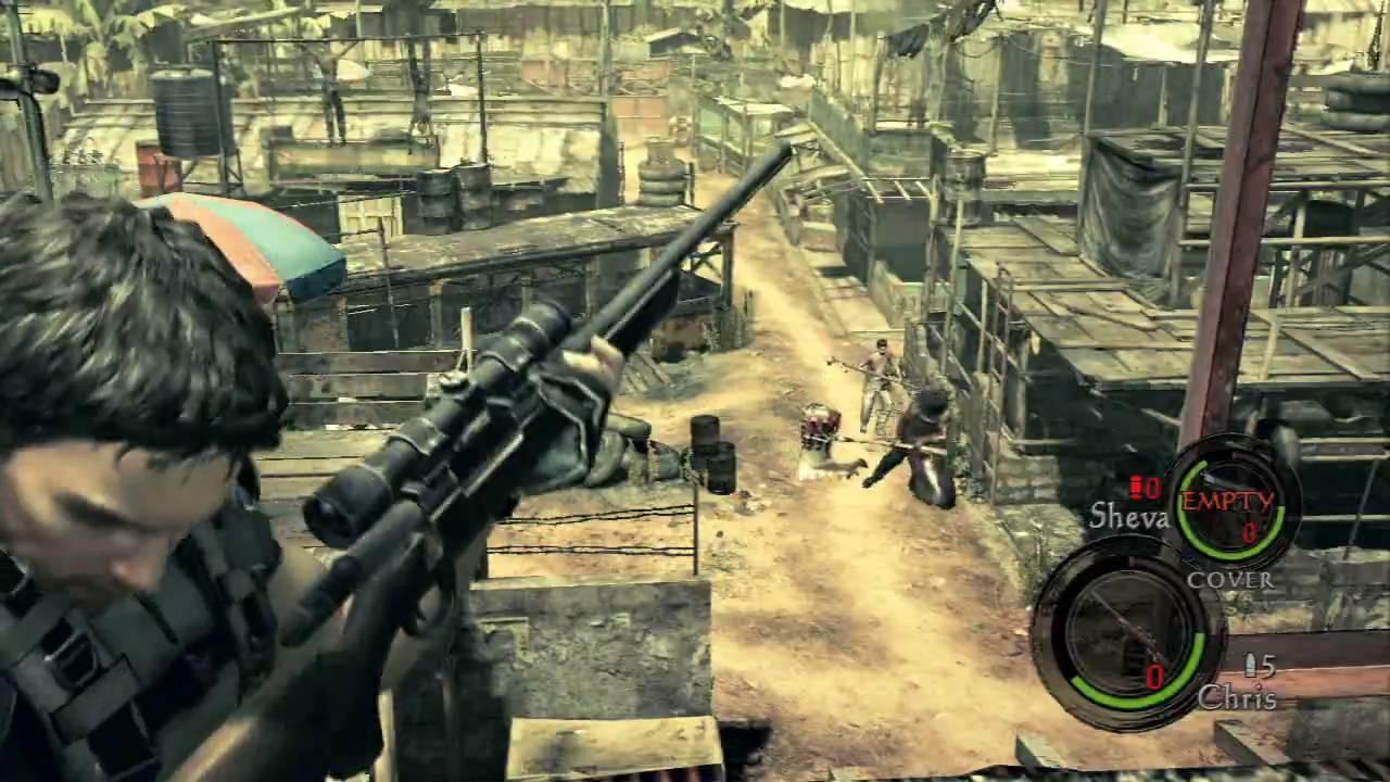 Resident Evil 5 Demo Gameplay Ps3 Youtube