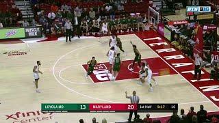 First Half Highlights: Loyola MD at Maryland | Big Ten Basketball