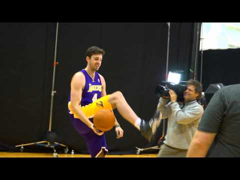 Ryan Kelly shows off his ball spinning skills
