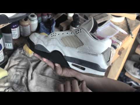 Restoration With Dapper Clean Jakarta - Air Jordan 4 Sneakers | Laundry Sneakers Team Porn
