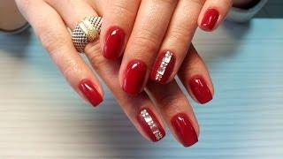 Техника нанесения страз (уроки дизайна ногтей nail art design)