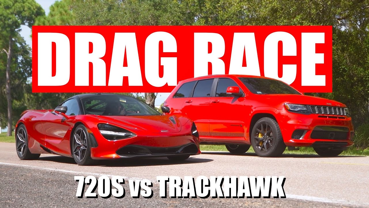 Jeep Trackhawk vs McLaren 720s DRAG RACE!!!