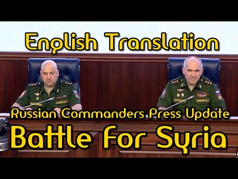 BATTLE for SYRIA: 6-28-17. Russian Commanders Update On Battle Against Jihadists (English).