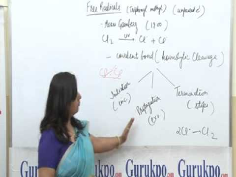 Free Radical, B.Sc., M.Sc., Chemistry Lecture by Ms. Anupama Singh.