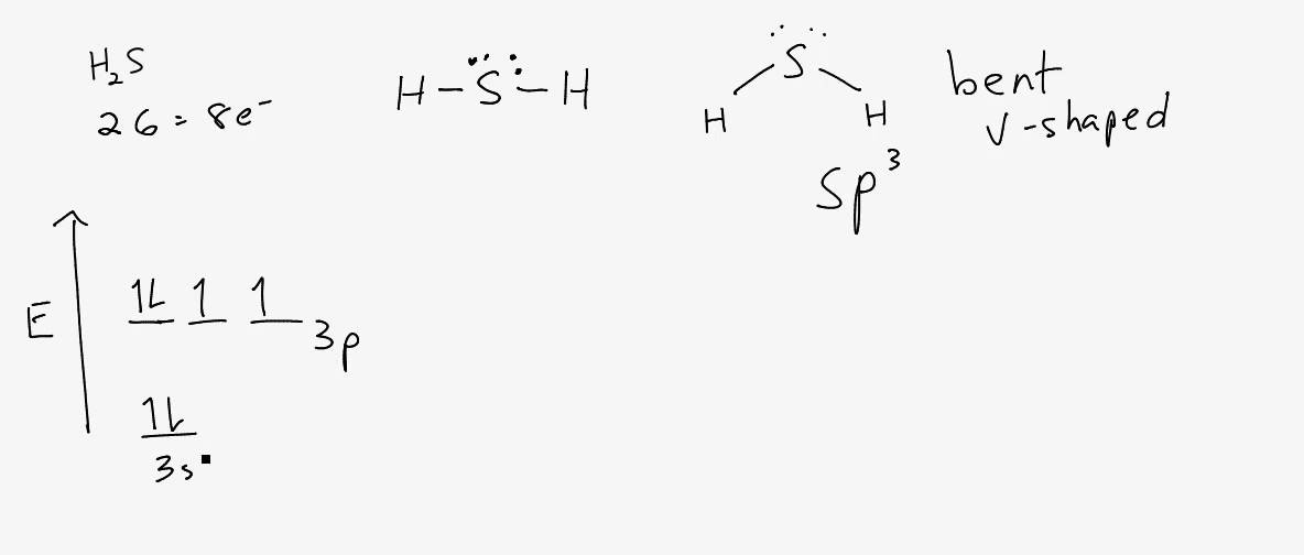 Lewis Structure  Molecular Shape And Hybridization For H2s