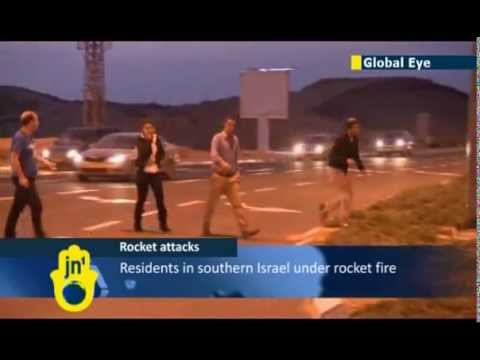 OPERATION PILLAR OF DEFENSE: video of Israelis under Gaza rocket bombardment