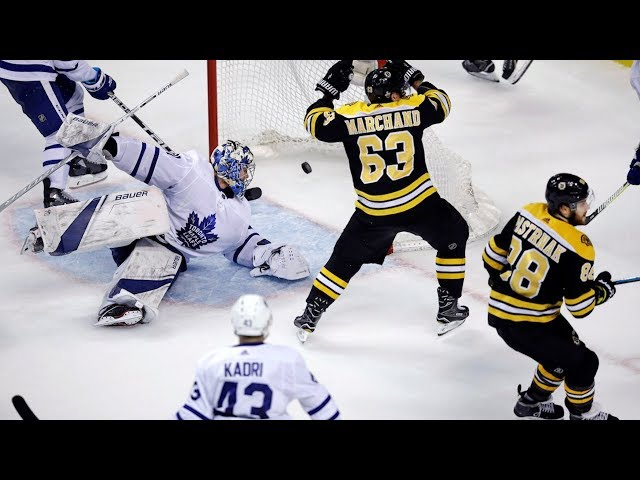 """The Boston Bruins eliminated the Toronto Maple Leafs from the playoffs Wednesday, in Game 7 of the first-round series. Leafs forward Nazem Kadri says his team has """"made strides."""" (The Canadian Press)"""