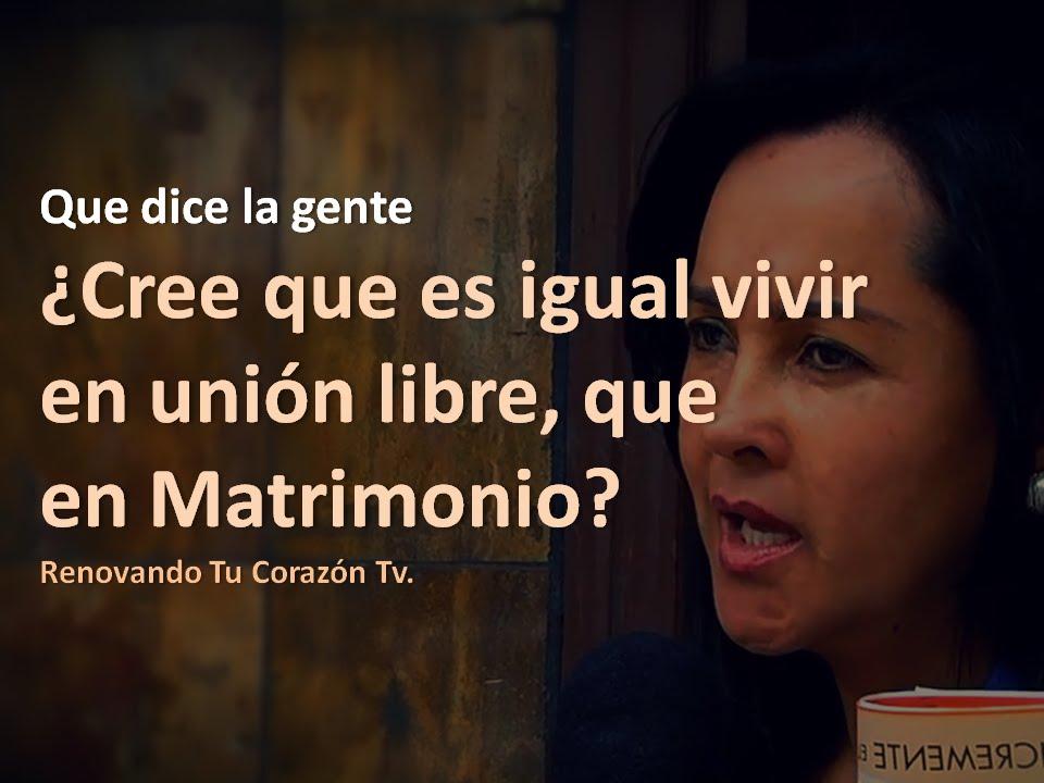Matrimonio Union Libre : Que dice la gente cree es igual vivir en unión