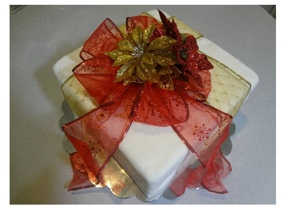 How to decorate a christmas cake with fondant como for Como decorar un bizcocho