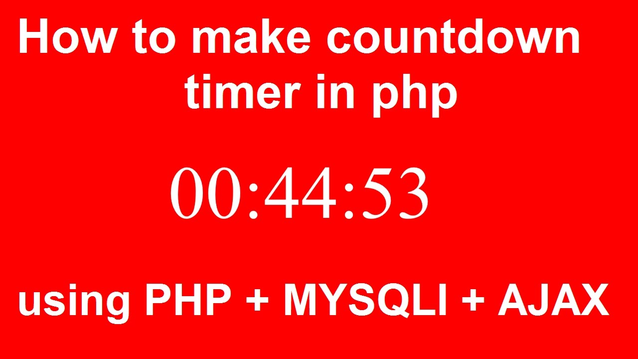 php timer