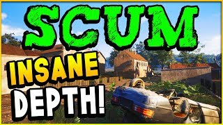 SCUM Game - OPEN WORLD Prison SURVIVAL Game! Extremely In Depth (Scum Gameplay)