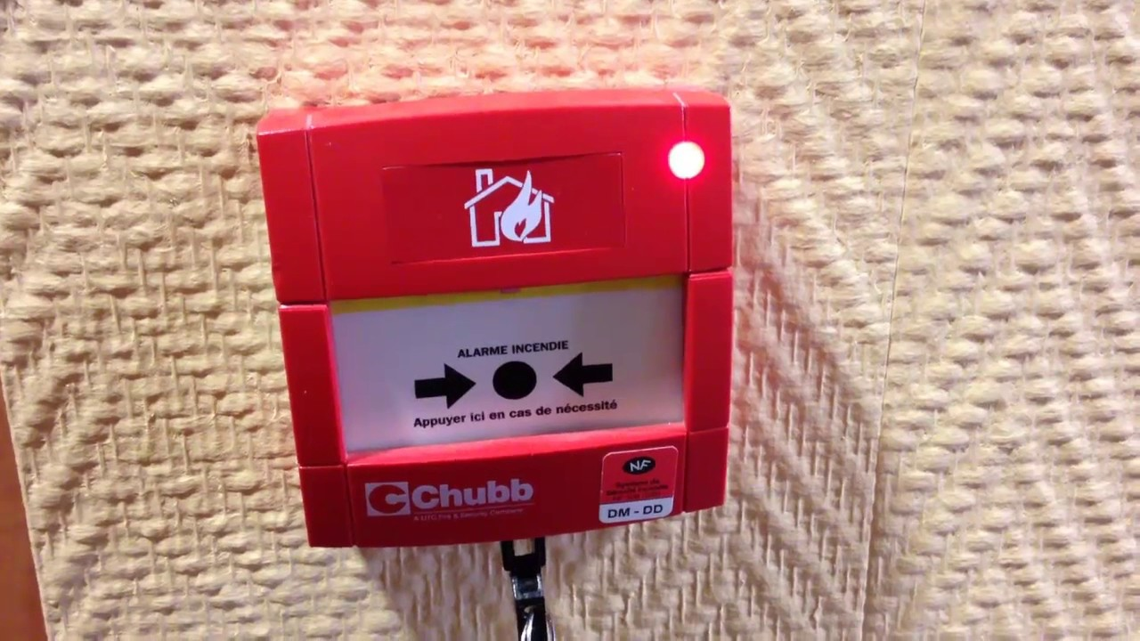alarme incendie test d clencheur manuel chubb youtube. Black Bedroom Furniture Sets. Home Design Ideas