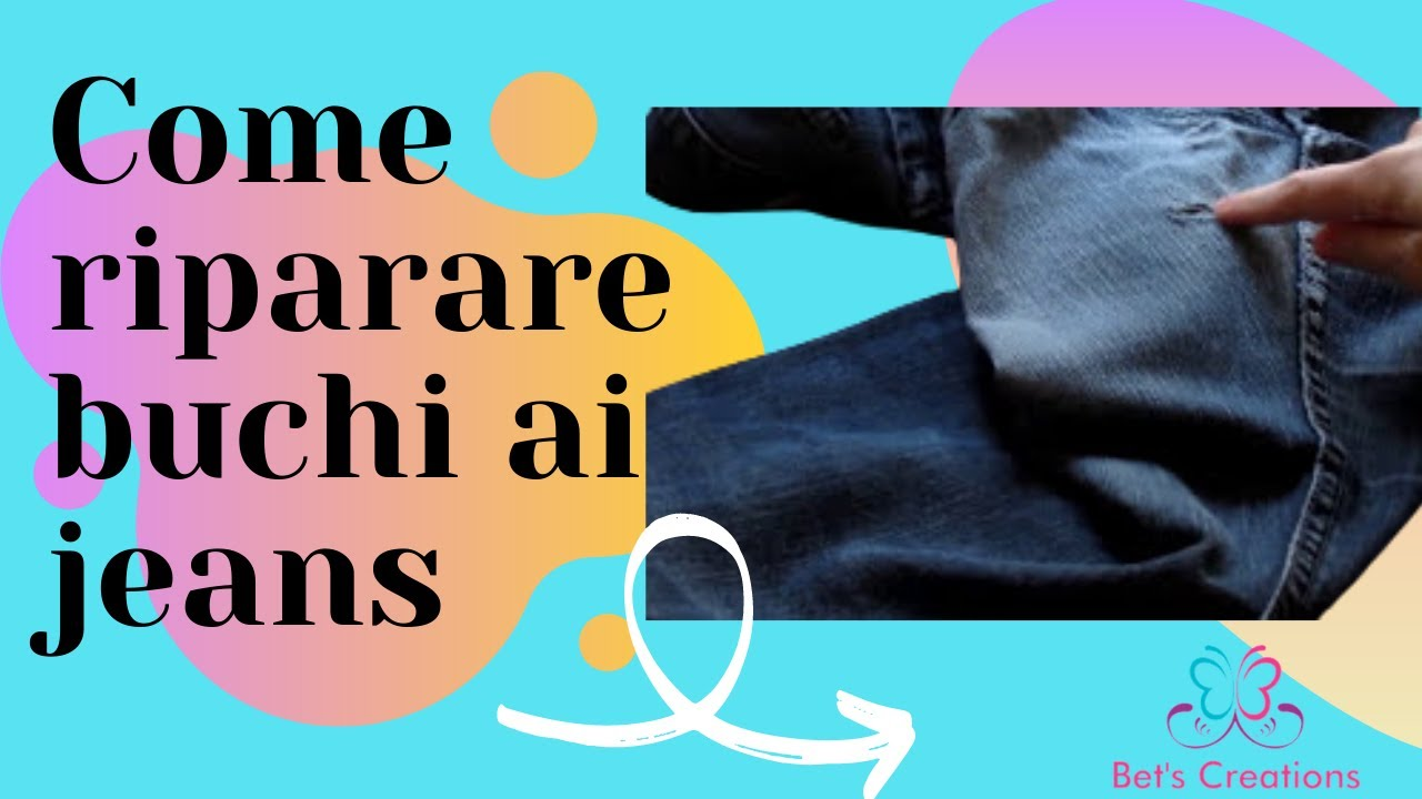 JeansHow Repair To Jeans Riparare Come Buchi Holes In Ai DH9EI2
