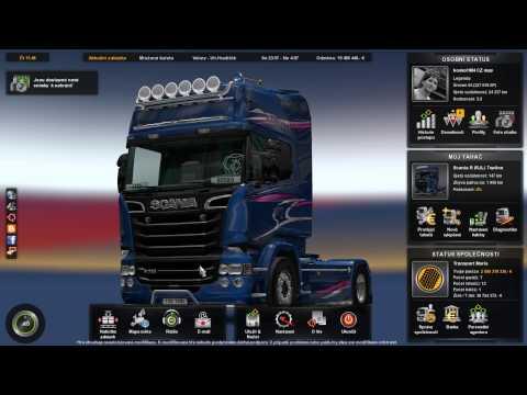 ETS2 Scania R730 Blue Stream Volary - Uherské Hradiště