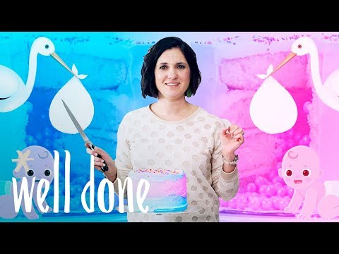 Ombre Gender Reveal Cake: Is It A Boy Or A Girl? How To Surprise Everyone | Mom Vs | Well Done