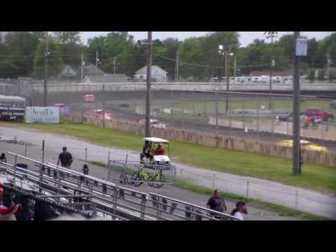 Late Model Heat 2 @ Iowa State Fair Speedway 06/03/16