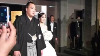 日馬富士関とバトトールさんの結婚披露宴.